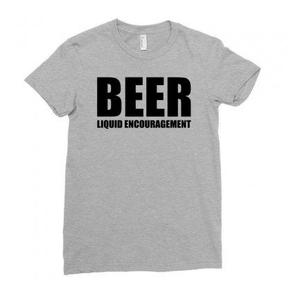 Beer Liquid Encouragement Ladies Fitted T-shirt Designed By Mdk Art