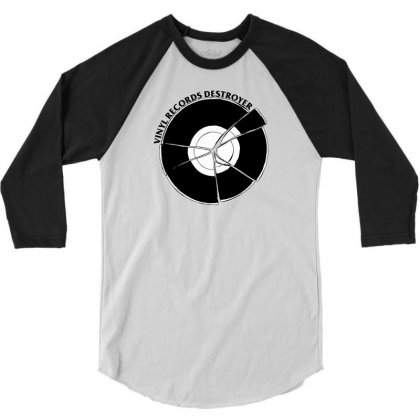 Vinyl Destroyer 3/4 Sleeve Shirt Designed By Homienice