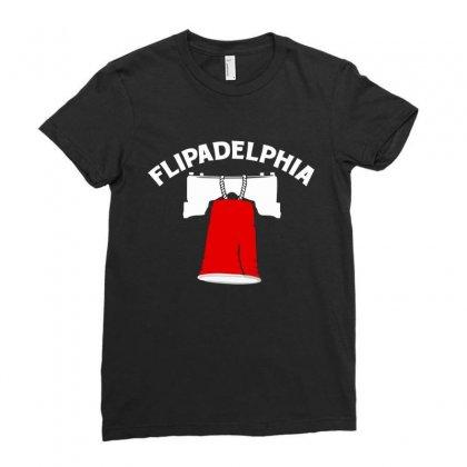 Flipadelphia Ladies Fitted T-shirt Designed By Homienice
