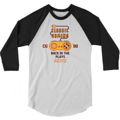 Classic Gaming - Back In The Plays 3/4 Sleeve Shirt Designed By Tshiart