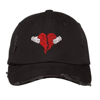 Kanye West 808s And Heart Break Embroidered Hat Distressed Cap Designed By Madhatter