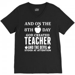 Proud Teacher V-Neck Tee | Artistshot