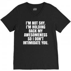 I'm Not Shy... V-Neck Tee | Artistshot