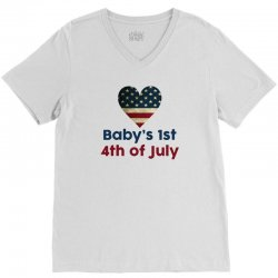 Baby's 1st 4th of July V-Neck Tee | Artistshot