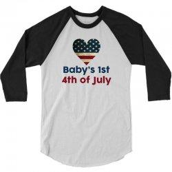 Baby's 1st 4th of July 3/4 Sleeve Shirt | Artistshot
