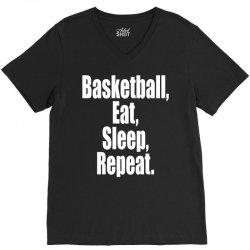 basketball eat sleep repeat V-Neck Tee | Artistshot