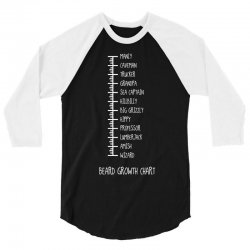 Beard Growth Chart 3/4 Sleeve Shirt | Artistshot