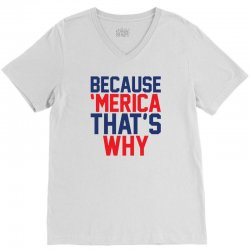 Because 'Merica That's why V-Neck Tee | Artistshot
