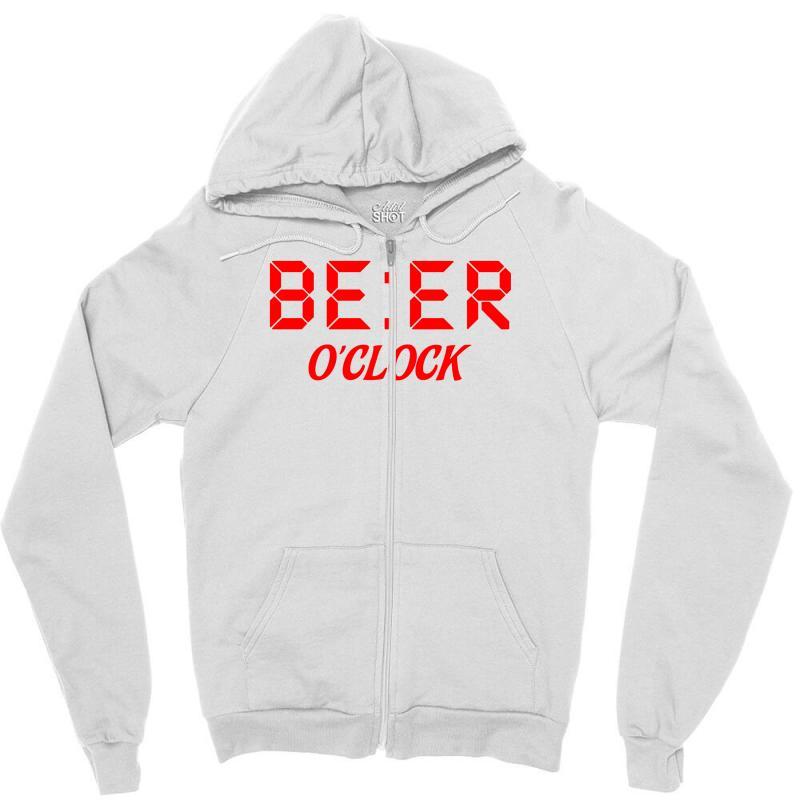 Beer O'clock Zipper Hoodie   Artistshot