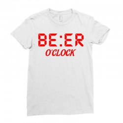 Beer O'clock Ladies Fitted T-Shirt | Artistshot