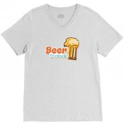 Beer O'clock V-Neck Tee | Artistshot