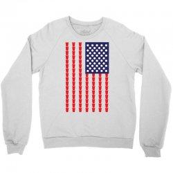 Beer Pong American Flag Crewneck Sweatshirt | Artistshot