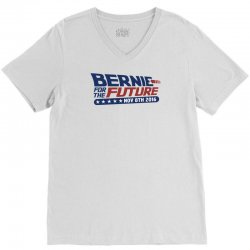 Bernie For The Future V-Neck Tee   Artistshot