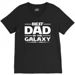 Best Dad in the Galaxy V-Neck Tee | Artistshot