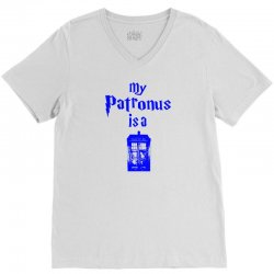 my patronus  is a tardis V-Neck Tee | Artistshot