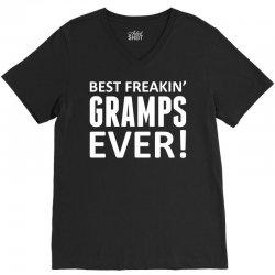 Best Freakin' Gramps Ever V-Neck Tee | Artistshot