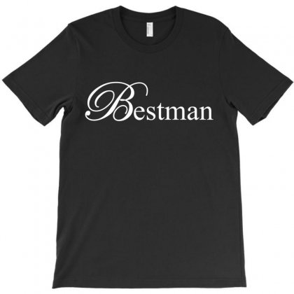 Best Man White T-shirt Designed By Tshiart