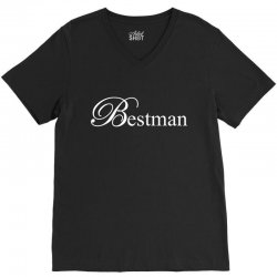 Best Man White V-Neck Tee | Artistshot