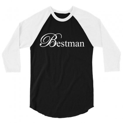 Best Man White 3/4 Sleeve Shirt Designed By Tshiart