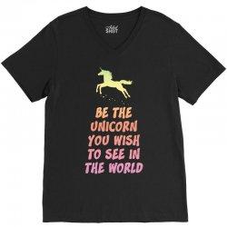 Be the Unicorn V-Neck Tee   Artistshot