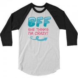 SHE THINKS I'M CRAZY & I KNOW SHE'S CRAZY COUPLES 3/4 Sleeve Shirt | Artistshot