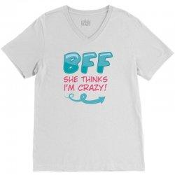 SHE THINKS I'M CRAZY & I KNOW SHE'S CRAZY COUPLES V-Neck Tee | Artistshot