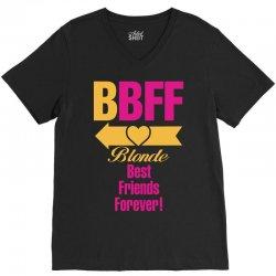 Blonde Best Friend Forever Left Arrow. V-Neck Tee | Artistshot