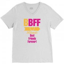 Blonde Best Friend Forever Right Arrow V-Neck Tee | Artistshot