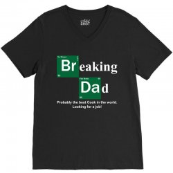 Breaking Dad V-Neck Tee | Artistshot