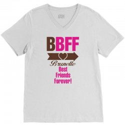 Brunette Best Friends Forever V-Neck Tee | Artistshot