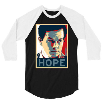 Hope Poster 3/4 Sleeve Shirt Designed By Pinkanzee