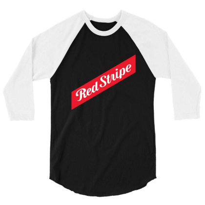 Red Stripe 3/4 Sleeve Shirt Designed By Pinkanzee