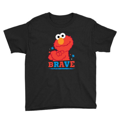 Brave Elmo Youth Tee Designed By Pinkanzee