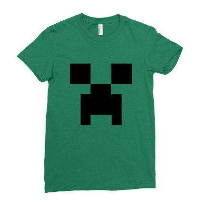 Minecraft Creeper For Green Ladies Fitted T-shirt Designed By Ofutlu
