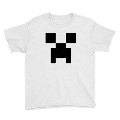 Minecraft Creeper For Green Youth Tee Designed By Ofutlu