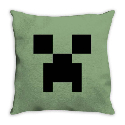 Minecraft Creeper For Green Throw Pillow Designed By Ofutlu