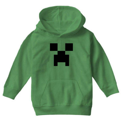 Minecraft Creeper For Green Youth Hoodie Designed By Ofutlu