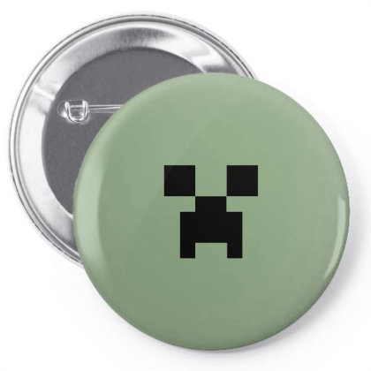 Minecraft Creeper For Green Pin-back Button Designed By Ofutlu