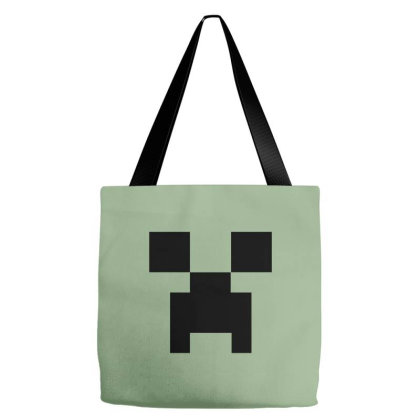 Minecraft Creeper For Green Tote Bags Designed By Ofutlu