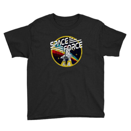 United States Space Force Vintage Youth Tee Designed By Pinkanzee