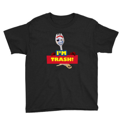 I'm Trash   Forkie Youth Tee Designed By Pinkanzee
