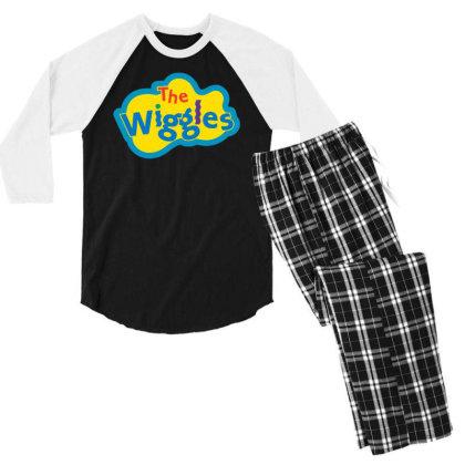 The Wiggles Men's 3/4 Sleeve Pajama Set Designed By Pinkanzee