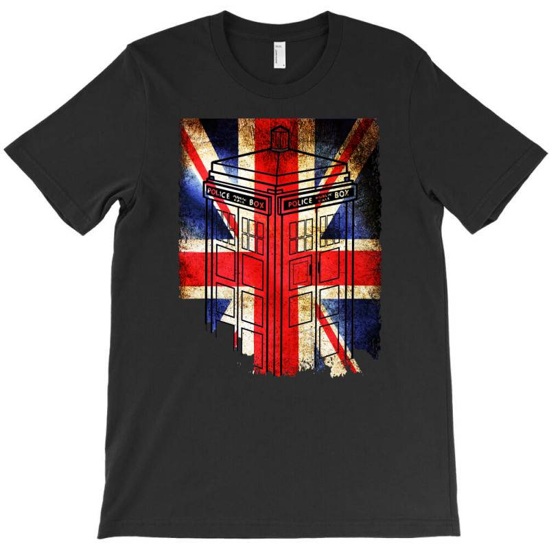 Tardis British Flag T-shirt | Artistshot