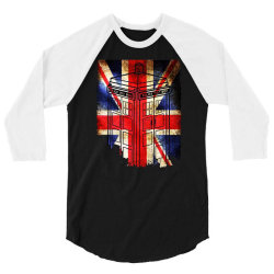 tardis British flag 3/4 Sleeve Shirt | Artistshot