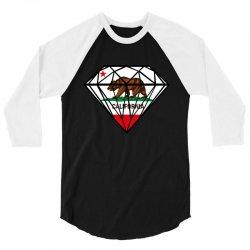 California Diamond 3/4 Sleeve Shirt   Artistshot