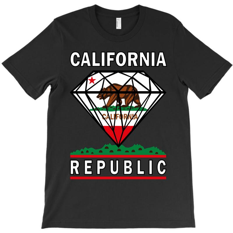 California Diamond Republic T-shirt | Artistshot