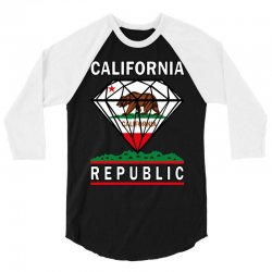 California Diamond Republic 3/4 Sleeve Shirt | Artistshot