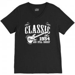 Classic Since 1954 V-Neck Tee   Artistshot