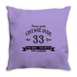 aged 33 years Throw Pillow | Artistshot