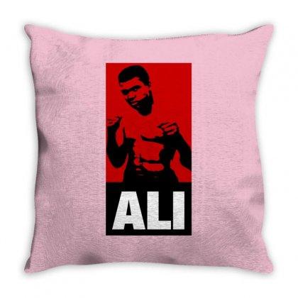 Muhammad Ali Throw Pillow Designed By Tshiart